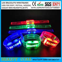 2016 Cheapest party return gifts led party return gifts,led flashing wristbands bracelets China factory manufacturer