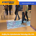 Interactive projection on cool white floor with CE
