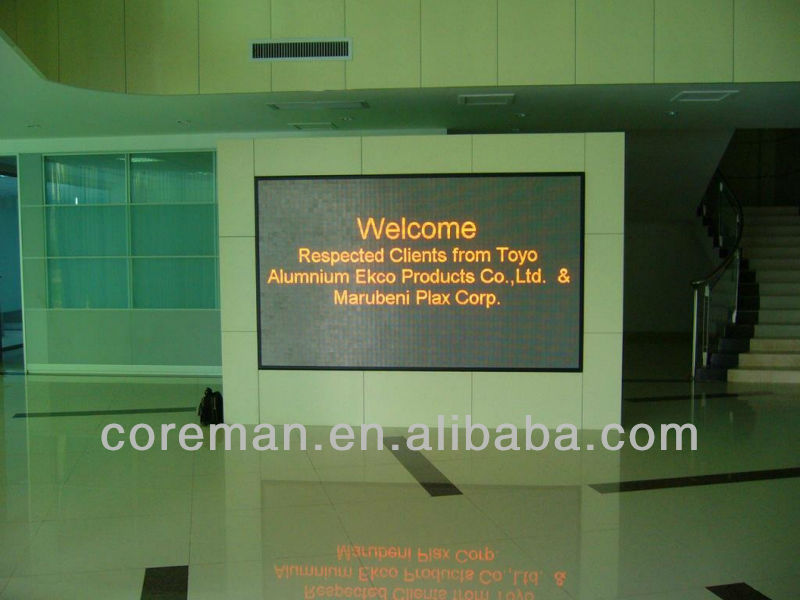 new invented technology indoor p4.75 dual color led module sign/ led tri-color display screens