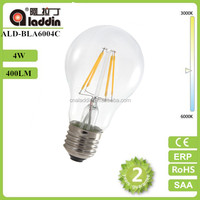 wholesale A60 4w edison filament led bulb e27 led lamp 2 years warranty filament edison bulb led