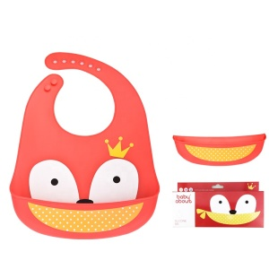 custom waterproof roll up soft silicone baby bibs