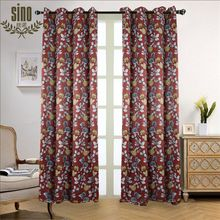 100% Polyester Chinese Printing Style Wholesale Printed Fabric Curtain