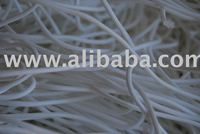 White PES fibre - production waste
