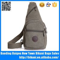 Sales fashion amry green factory price customized sport chest bag high quality