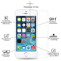 0.3mm 9H 2.5D Arc Edge Explosion Proof Waterproof Oleophobic tempered glass HD screen protector Film for iPhone 5 5c 5s se