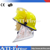 Yellow plastic anti fire adjustable belt firefighter protective helmets hats