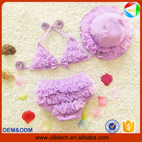 2016 Hot sex two pieces baby girl bathing suit for summer girl swimming suit wholesale beach wear bikini girl child (ulik-S010)