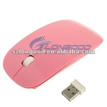 2.4GHz Colorful Wireless Ultra-thin Laser Optical Mouse with USB Mini Receiver for Apple