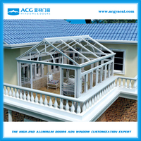 2015 factory design aluminum sun room/winter garden/glass sunrooms/greenhouse