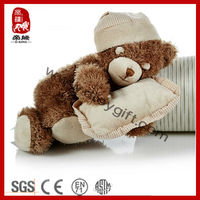2014 New Hot Selling Stuffed Super Soft Plush Sleeping Toy Baby Sleep Toys Stuffed Teddy Bear