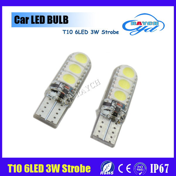Top hotest high quality t10 led with canbus 6 smd 3w led t10 in flash/strobe function in good market