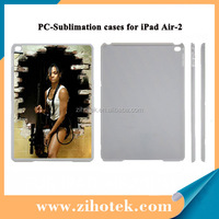 2D sublimation blank cover case for iPad Air 2