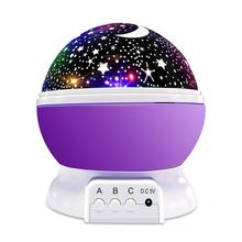 Star Night Light Rotating Indoor Projector Lamp Galaxy Moon & Space Twilight Ceiling Lighting for Baby Kids Children's Room, 4 L