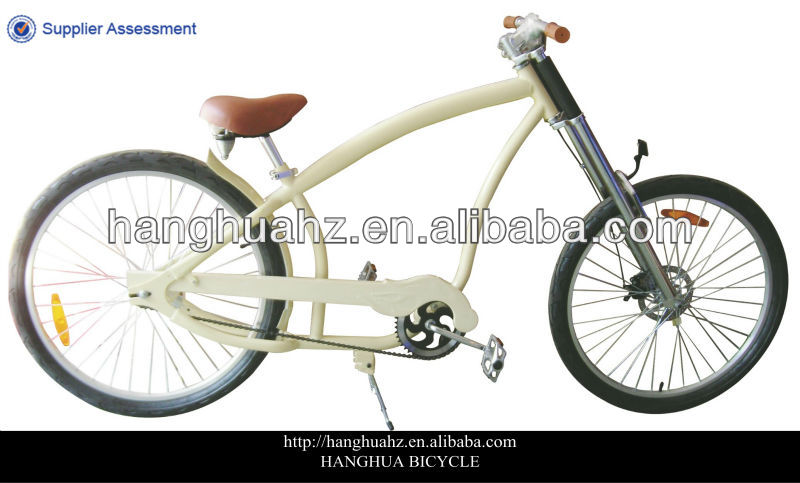 HH-C2602 yellow adult chopper aluminium city bike with factory price