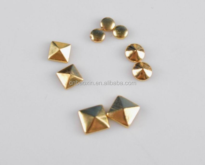2015 Decorative metal hot fix studs for clothing