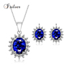 Sapphire Amp Zircon Diamond Stylish Combination
