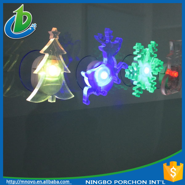 Mini colorful suction cup led christmas tree for car