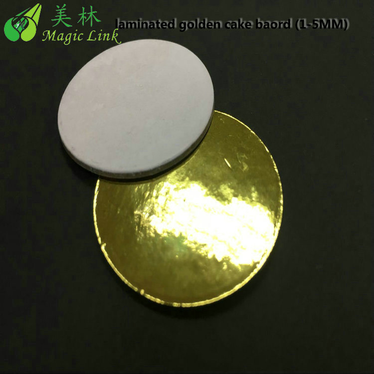 "wholesale cake board cardboard 12"" Gold Scallop Baker's Circles"