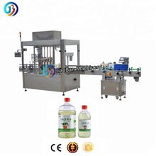 Automatic chemical application medicinal liquid bottling filling and capping machine