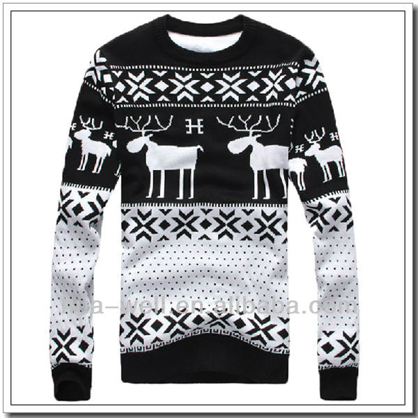Christmas sweater for men in cashmere