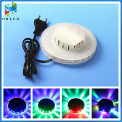 Small RGB Color Changing Auto Rotaing Flying Saucer LED stage light