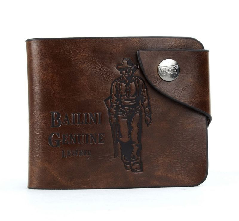 2015 fashion mens wallet leather genuine Cowboy style  money clip  purse sexy mens wallet hot sale