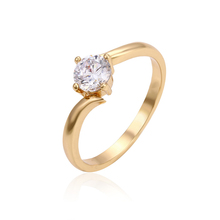 11112-Saudi new gold jewelry single stone finger ring models for girls