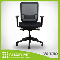 Comfortable swivel ergonomic office chair with seat slide and nylon base