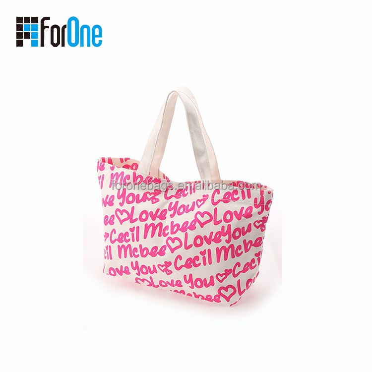 Canvas printing tote bag, hobe bag, wholesale low price bag