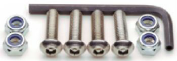 License Plate Locking Fasteners, Import Models, Stainless Steel