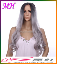 1B Grey Ombre Hair Wig,Lace Front Wig Synthetic,Micro Braided Lace Front Wigs