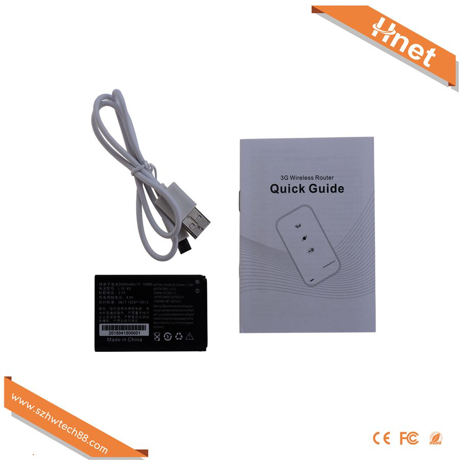 2016 new 3g Wifi router Wan+USB port with sim card wireless public hotspot 3000mAh <strong>battery</strong>