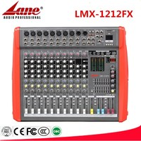 Lane newest professional 12CH mixing console with USB LMX-1212FX