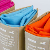 2015 new products flower reusable shopping bag folding nylon bag