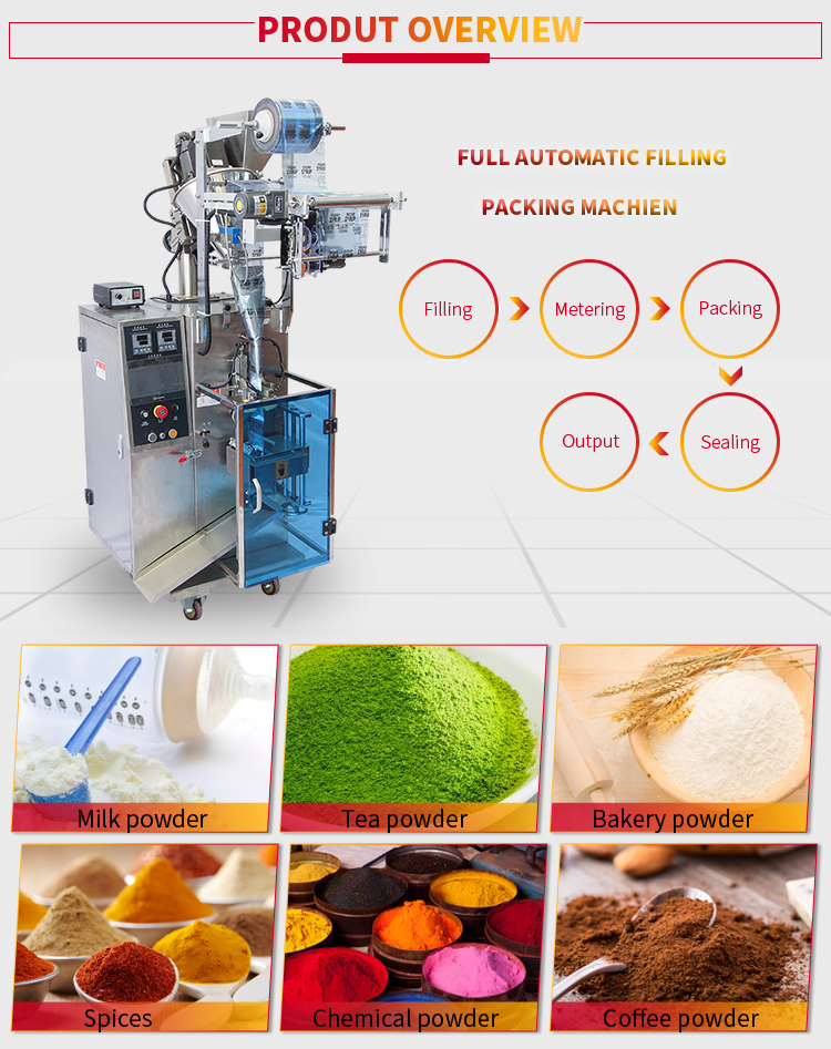 Automatic Auger Filler 50g 100 Gram Sachet Powder Mixing Packing Machine