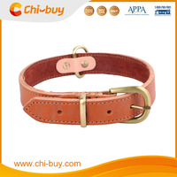 48-55cm Genuine Leather Pet Dog Collar Classic Martingale Collar