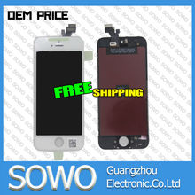 Replacement suitable for apple iphone 5g lcd touch screen digitizer with black and white