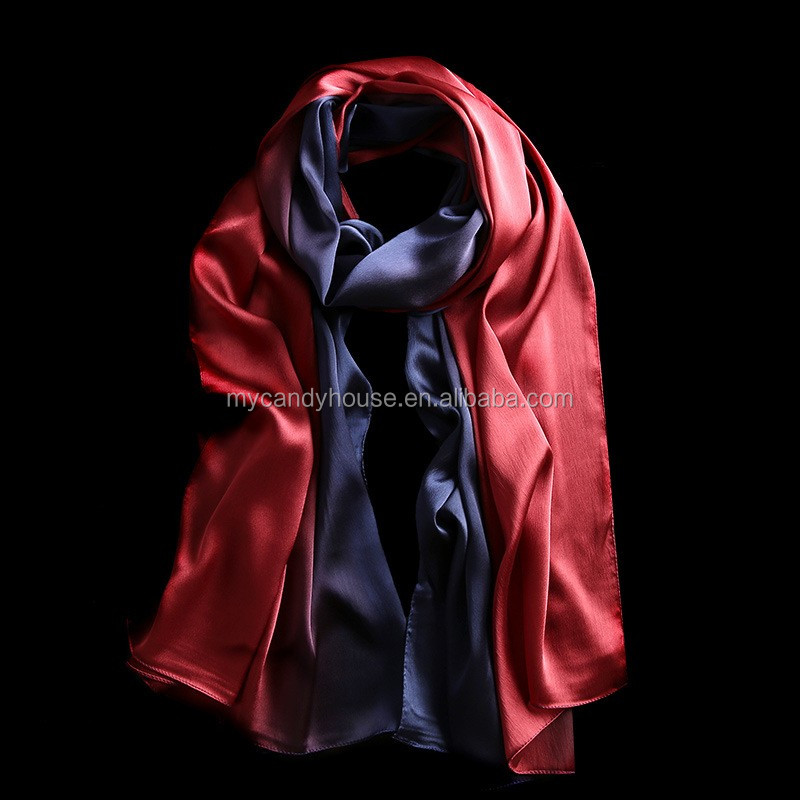 new style quality silk gradient color scarf