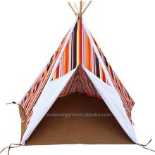 TP47 Zhejiang Tulip 100% cotton canvas fabric wholesale children kids play tent teepee kids play