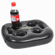 floating pvc inflatable beer holder drink snack holder