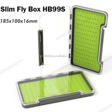 New design waterproof plastic slim silicone fly fishing box