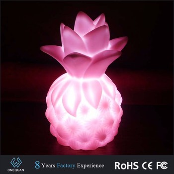 night light for kids colorful pineapple shape decorative childrens room LED night lights