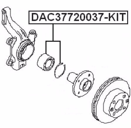 Wholesale Suspension Front Wheel Bearing Oem 7701464049 For Nissans Kubistar X76 2003-2009