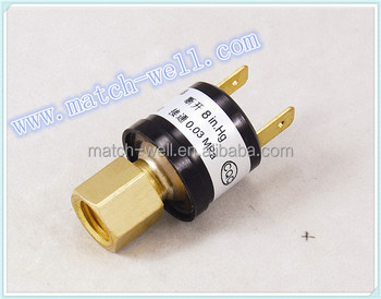 microw Eng.thread quick connector vacuum pressure switch within -0.1~0.05MPa