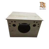 Pet Cages,Carriers&Houses Type and Small Animals Application portable folding Wooden Cat carrier