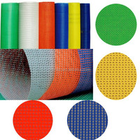 Manufacturer Fluorescent B1/NFPA 701 Flame Retardant Vinyl PVC Coated Polyester Mesh for Protective/ for Roof