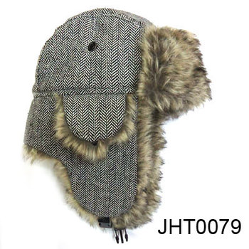 Hot selling Russian style fur hat earflap hat military hat