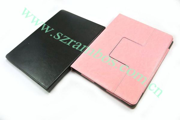 High Quality Stand Thin Case Cover Leather Tablet Case for iPad 2 3 4
