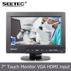 Lcd displayer hdmi AV interface 1080p full-hd resistive touchscreen vga touch monitor 7 inch