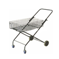 Folding shopping cart with detachable basket.